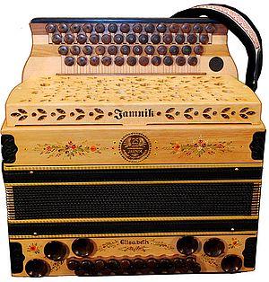Harmonika zum 25. jährigen Firmenjubiläum