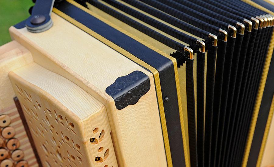 Harmonika Classic-Modell Detailansicht Balg