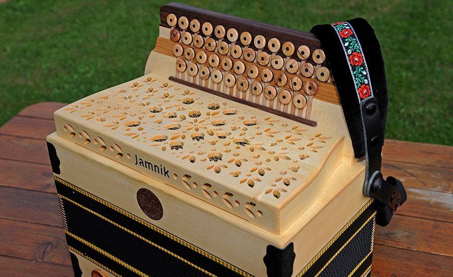 Harmonika Classic-Modell Detail Diskant