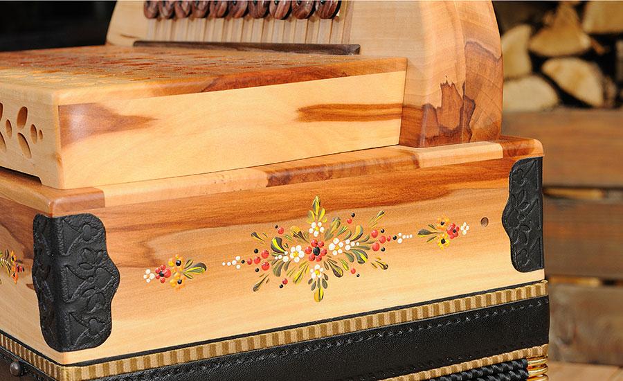 Bauernmalerei Detail Steirische Harmonika