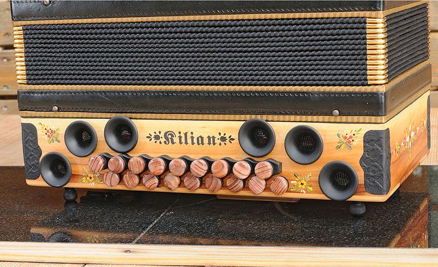 Steirische Harmonika Apfel Bassseite