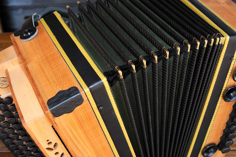 Steirische Harmonika Eibe Balg grün