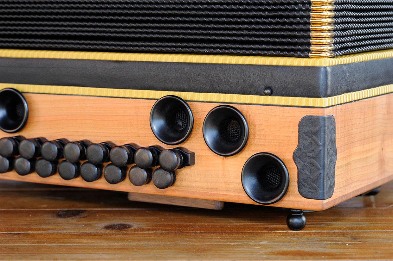 Steirische Harmonika Eibe Bassseite