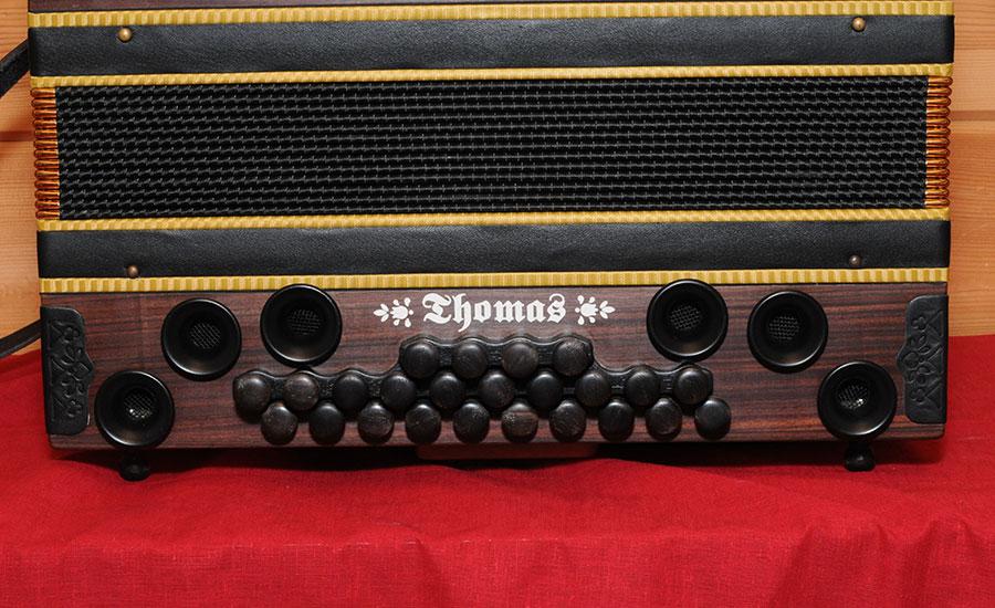 Steirische Harmonika Königsholz Bassseite