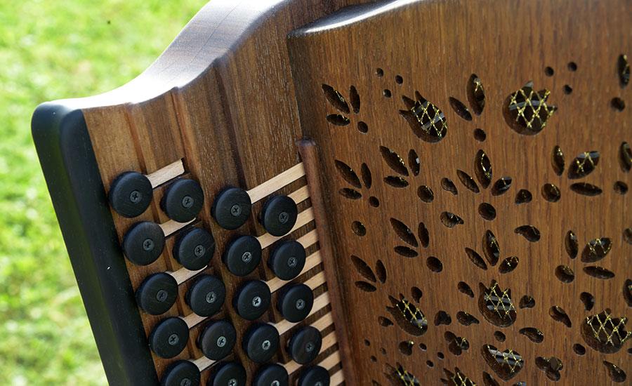 Steirische Harmonika Mooreiche Diskant
