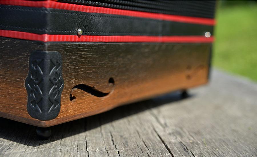Steirische Harmonika Mooreiche Schallloch