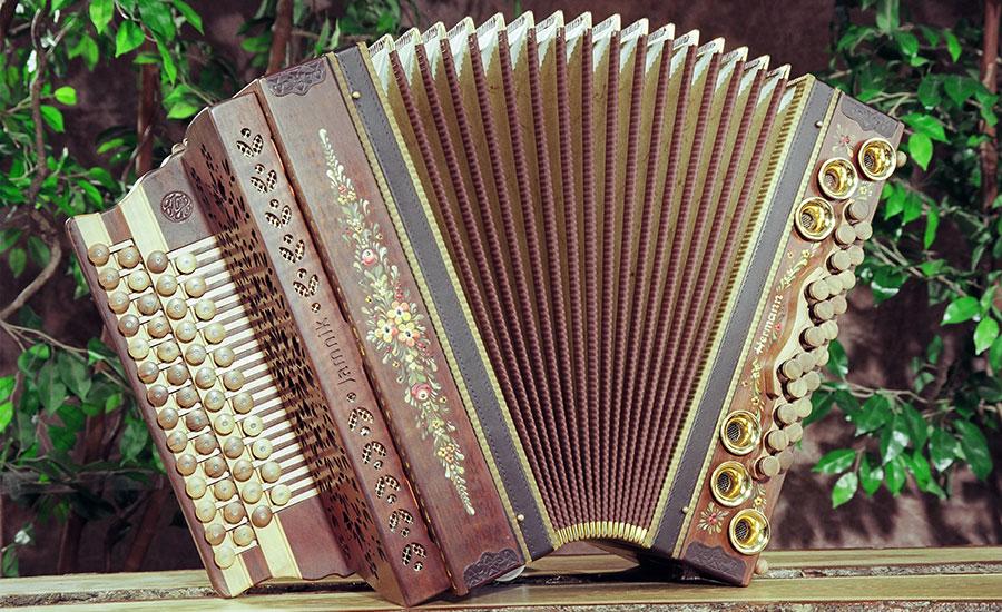 Jamnik Harmonika Walnuss von vorne