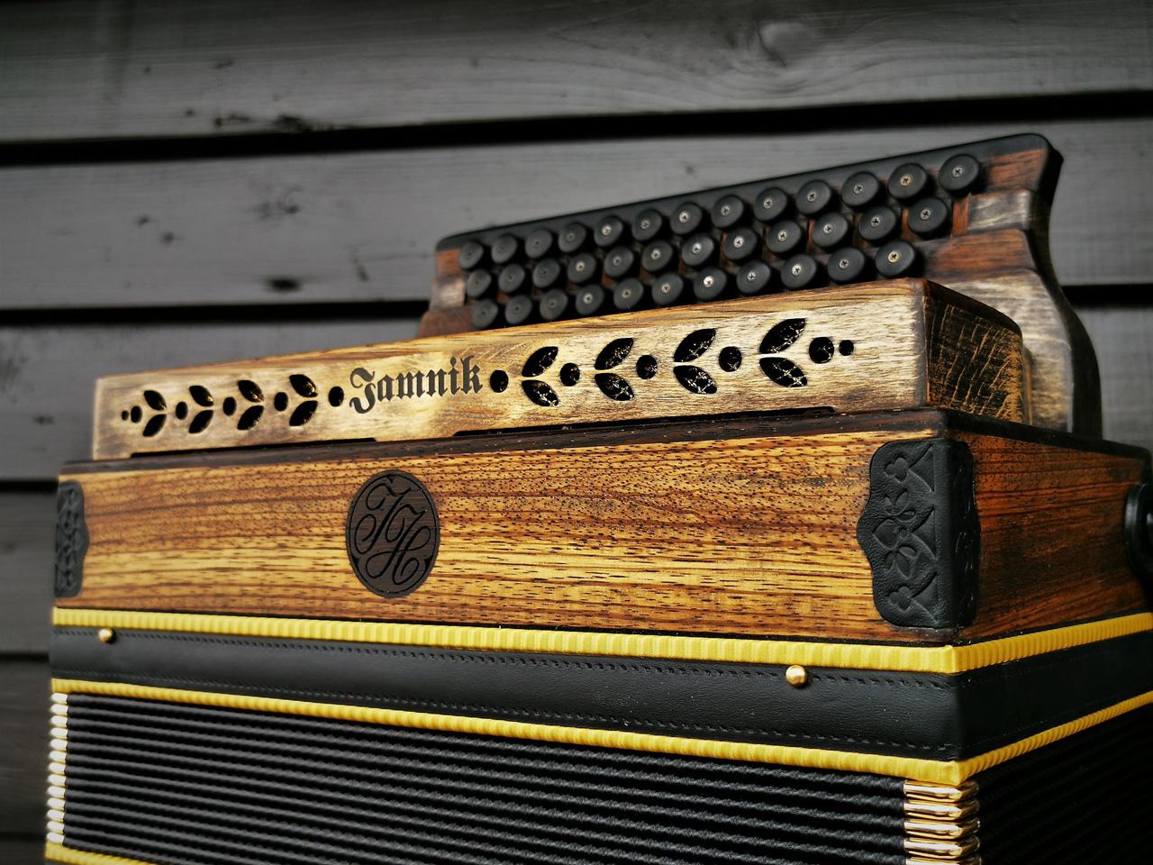 Steirische Harmonika Zebrano antike Optik Diskant