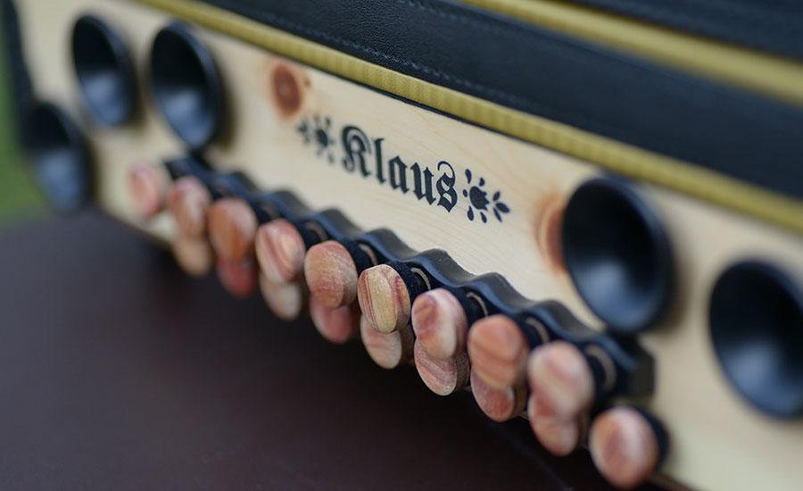Steirische Harmonika Zirbe Bassseite