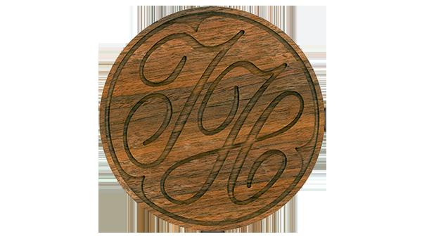 Jamnik-Logo auf Holz