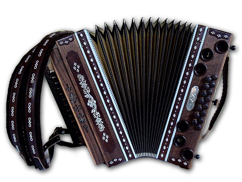 Harmonika mit Zinnstift von vorne